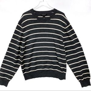 Bloomingdale's Striped Crew Neck Pullover Sweater